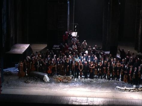 Il M° Barenboim e l'Orchestra sul palco, Teatro alla Scala, 23/12/2014