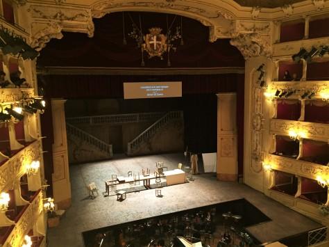 Scena e Teatro prima della recita